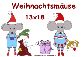 Stickdatei Weihnachtsmaeuse 13x18