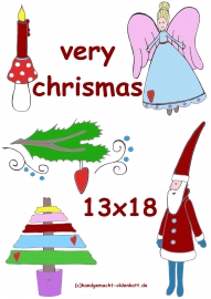 Stickdatei Serie very christmas 13x18