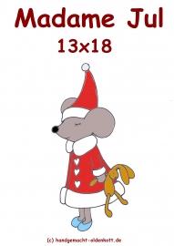 Stickdatei Weihnachtsmaus Madame Jul  13x18