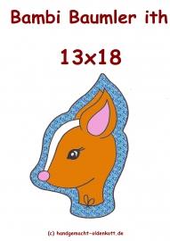 Stickdatei Bambi Baumler ith 13x18