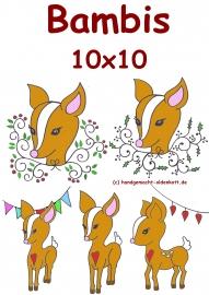 Stickdatei Serie Bambis 10x10