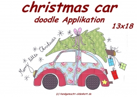 Stickdatei christmas car doodle 13x18