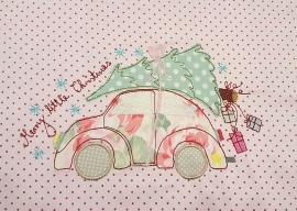 Stickdatei christmas car beetle doodle 13x18