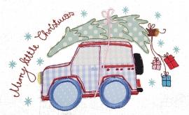 Stickdatei christmas defender doodle 13x18