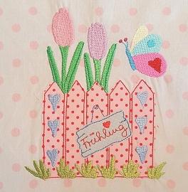 Stickdatei happy spring 10x10
