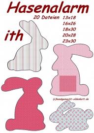 Stickdatei Serie Hasen ith 13x18 bis 23x30