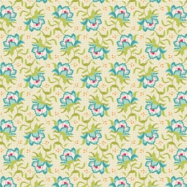 Tilda Stoff Clown flower green 481326