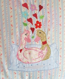 Stickdatei Serie Gans schön  doodle 13x18