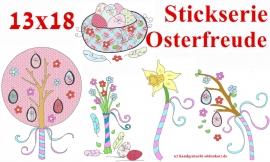 Stickdatei Serie Osterfreude 13x18