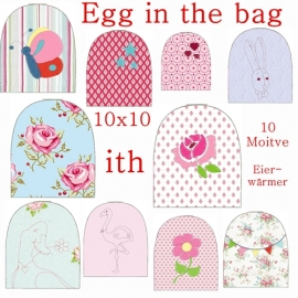 Stickdatei Serie Eierwärmer Egg in the bag  ith 10x10