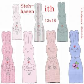 Stickdatei Serie Stehhasen ith 13x18