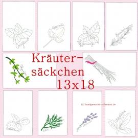 Stickdatei Serie Kräutersäckchen ith 13x18