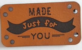 Leder Look Etikett made just for you