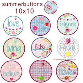 Stickdatei summerbuttons 10x10