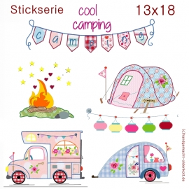 Stickdatei cool camping 13x18