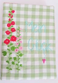 Stickdatei Buchcover A5 Mein Glück 13x18