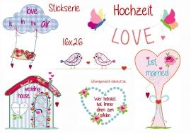 Stickdatei Serie Hochzeit 16x26