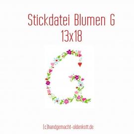 Stickdatei Blumen G 13x18