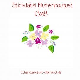 Stickdatei Blumenbouquet 13x18