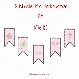 Stickdatei Mini Herbstwimpel ith 10x10