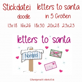 Stickdatei letters to santa
