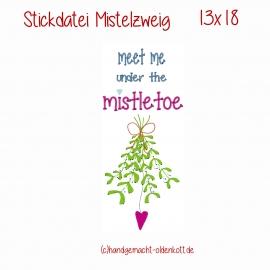 Stickdatei Mistelzweig 13x18