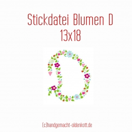 Stickdatei Blumen D 13x18