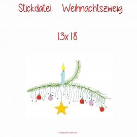 Stickdatei  Weihnachtszweig 13x18