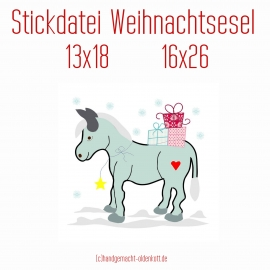 Stickdatei  Weihnachtsesel doodle