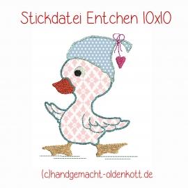 Stickdatei Entchen  doodle 10x10