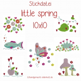 Stickdatei Serie little spring 10x10