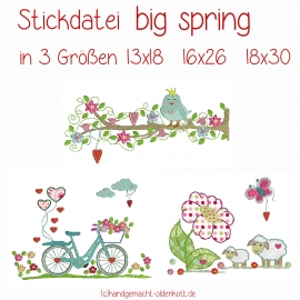 Stickdatei Serie big spring