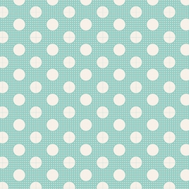 Tilda Stoff medium dots teal 130001
