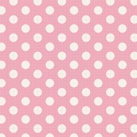 Tilda Stoff medium dots pink 130003