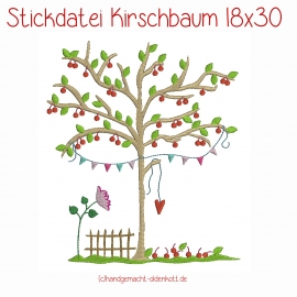Stickdatei Kirschbaum 18x30