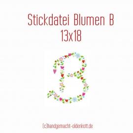 Stickdatei Blumen B 13x18