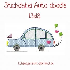 Stickdatei Auto doodle 13x18