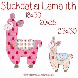 Stickdatei Lama ith