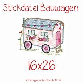 Stickdatei Bauwagen doodle 16x26