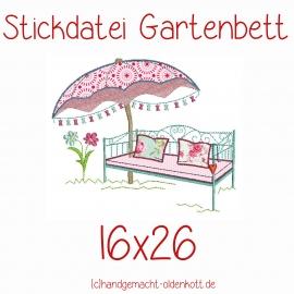 Stickdatei Gartenbett 16x26