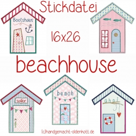 Stickdatei Serie  beachhouse 16x26