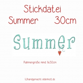 Stickdatei Summer