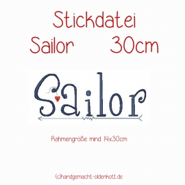 Stickdatei Sailor 30 cm