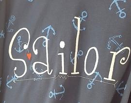 Stickdatei Sailor 30 cm