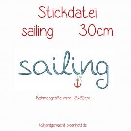 Stickdatei sailing 30 cm