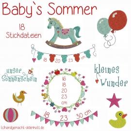 Stickdatei Serie  Baby`s Sommer