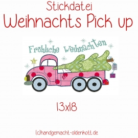 Stickdatei Weihnachts Pick up 13x18 doodle