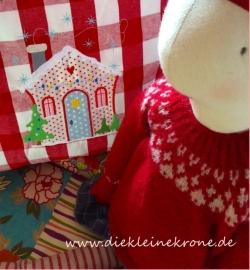 Stickdatei Weihnachtshaus in 3 Grössen