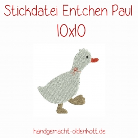 Stickdatei Entchen Paul 10x10