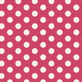 Tilda Stoff medium dots red 130027